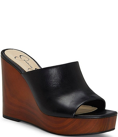 b165e871799 Jessica Simpson Shantelle Leather Wedges