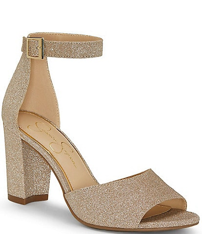 Jessica Simpson Sherron Ankle Strap Block Heel Sandals