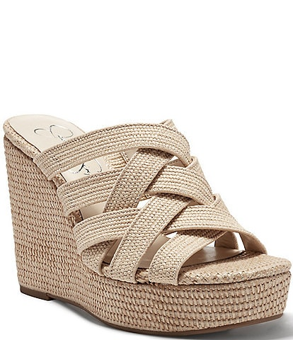 Jessica Simpson Siane Woven Banded Wedges