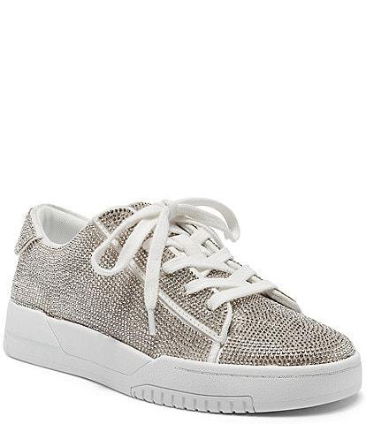 Jessica Simpson Silesta Rhinestone Lace-Up Sneakers