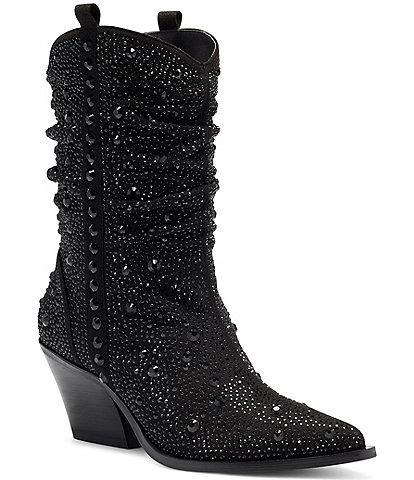 Jessica Simpson Zellya Rhinestone Embellishments Western Boots