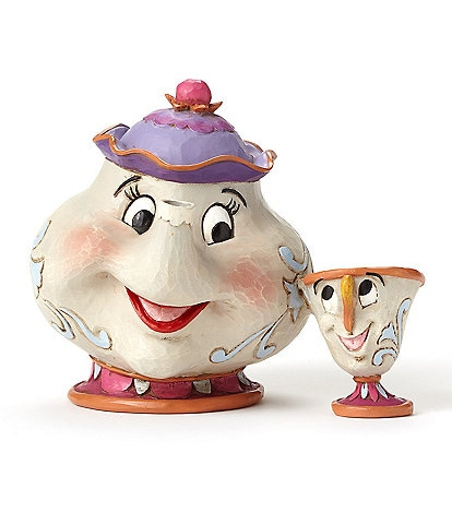 Jim Shore Disney Traditions by Jim Shore Beauty and the Beast Mrs. Potts And Chip Figurine