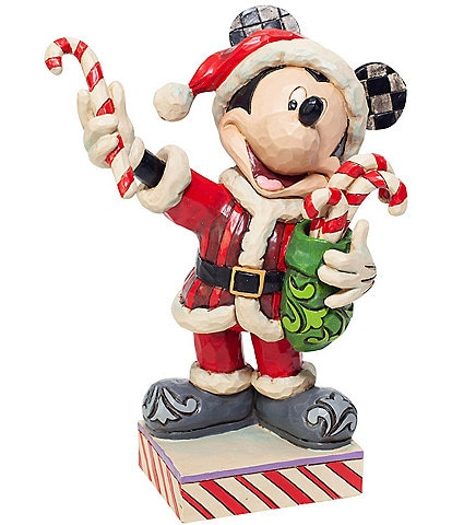 Jim Shore Disney Traditions Collection Santa Mickey With Candy Canes Figurine