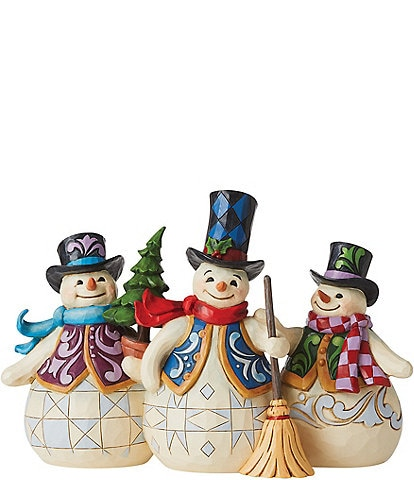 Jim Shore Heartwood Creek Collection Three Snowmen Together Figurine