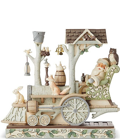 Jim Shore Heartwood Creek Woodland Santa In Train Engine Figurine
