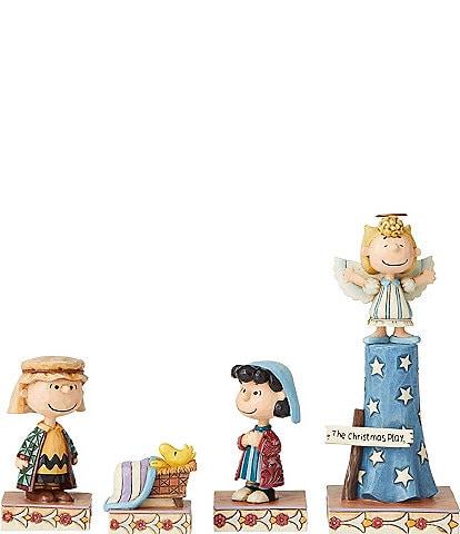 Jim Shore Peanuts Christmas Pageant 4-Piece Figurine Set