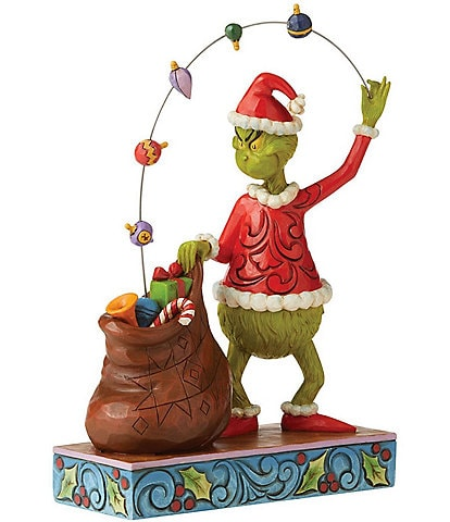 Jim Shore The Grinch Collection - Grinch Juggling Ornament Into Open Bag Figurine