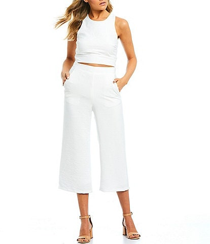 Jodi Kristopher Sleeveless Two-Piece Jumpsuit