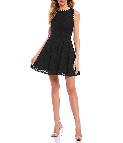 City Vibe Lace A-line Dress