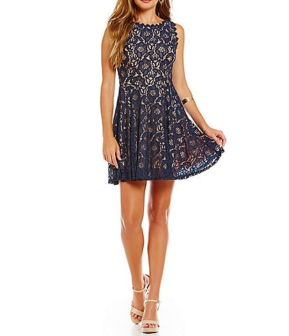 Jodi Kristopher Lace A-line Dress