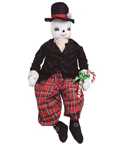 Joe Spencer's Gathered Traditions Holiday Collection Byron Snowman Soft Figurine