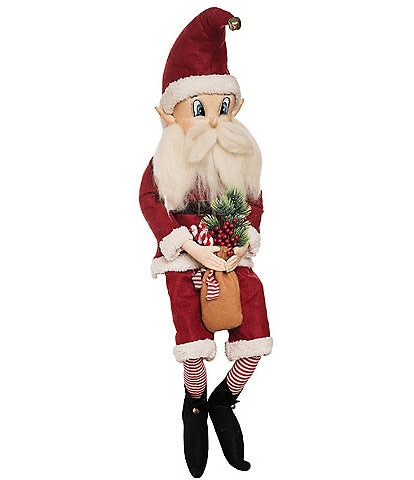 Joe Spencer's Gathered Traditions Holiday Collection Howie Santa Soft Figurine
