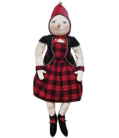 Joe Spencer's Gathered Traditions Holiday Collection Sarina Snowgirl Soft Figurine