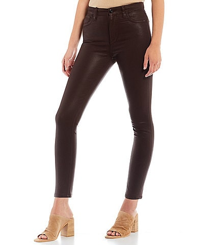 Joe's Jeans The Charlie Coated High Rise Skinny Ankle Jeans