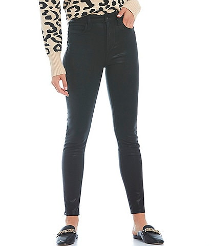 Joe's Jeans The Charlie Coated High-Rise Skinny Ankle Jeans