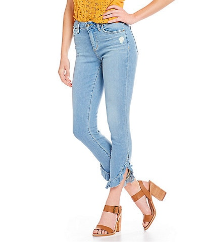 Joe's Jeans The Icon Curved Ruffle Hem Skinny Ankle Jeans