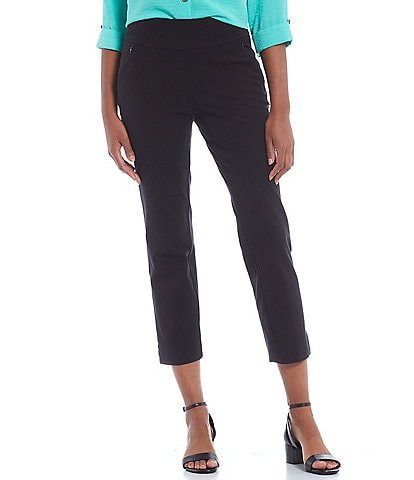 John Mark Zip Faux Pocket Pull-On Cropped Skinny Pants