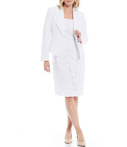 John Meyer Lace Wing Collar Jacket 2-Piece Dress Suit