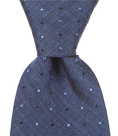John Varvatos Dotted Traditional 3.14#double; Silk Tie