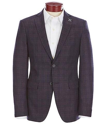 John Varvatos Slim Fit Plaid Wool Sportcoat