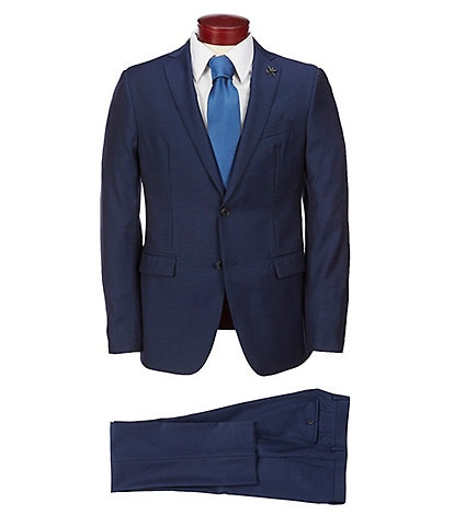 John Varvatos Slim Fit Solid Wool Suit