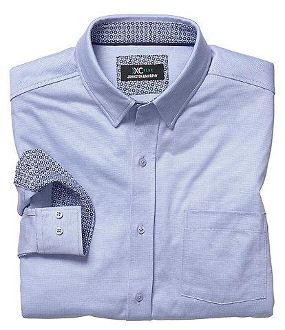 Johnston & Murphy XCFlex Birdseye Stretch Long-Sleeve Woven Shirt
