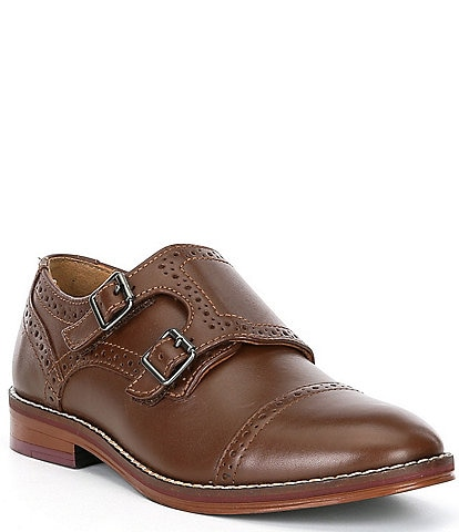 Johnston & Murphy Boys' Conard Double Monk Strap Dress Shoes (Youth)