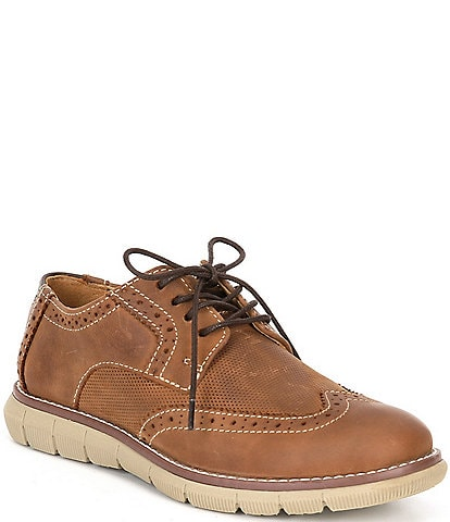 Johnston & Murphy Boys' Holden Embossed Wingtip Oxfords (Youth)