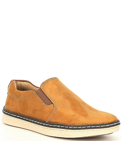 Johnston & Murphy Boys' McGuffey Suede Slip Ons (Youth)