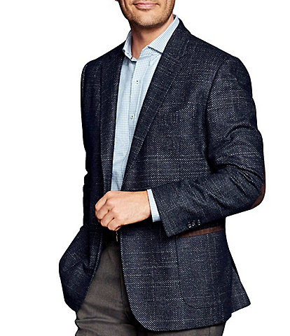 Johnston & Murphy Collection Classic Fit Italian Textured Blazer