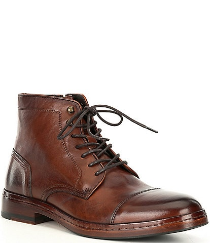 Johnston & Murphy Collection Men's Langley Leather Cap Toe Boots
