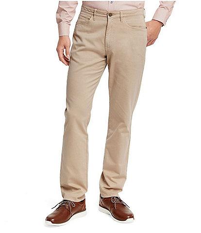 Johnston & Murphy Five-Pocket Straight-Fit Pants