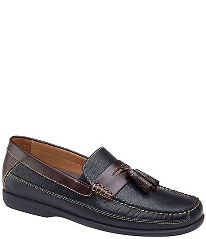 Johnston & Murphy Men's Locklin Oiled Leather Tassel Loafers
