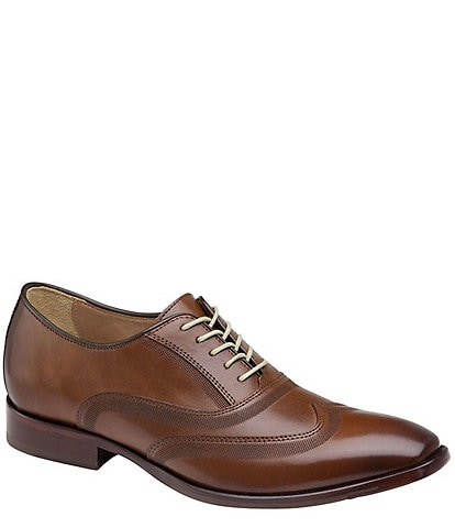 Johnston & Murphy McClain Leather Wingtip Oxford Dress Shoes
