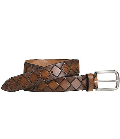 Johnston & Murphy Men's Basket Weave Belt
