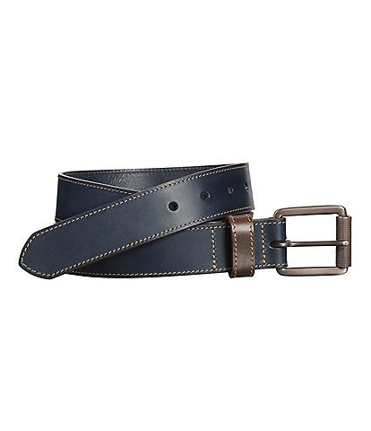 Johnston & Murphy Men's Contrast Stitch Belt