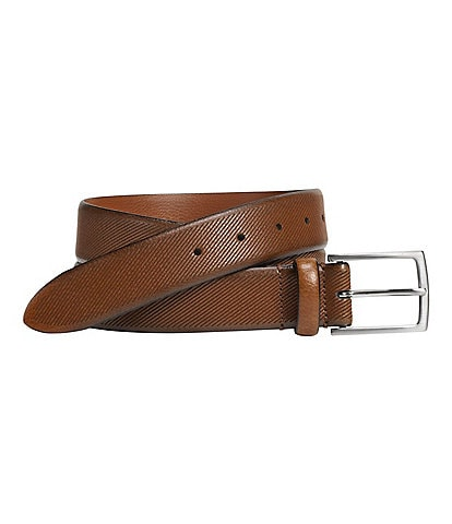 Johnston & Murphy Men's Diagonal Embossed Belt