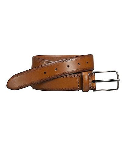 Johnston & Murphy Men's Edge Perforated Embossed Belt