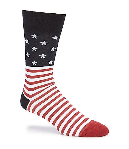 Johnston & Murphy Men's Flag Socks