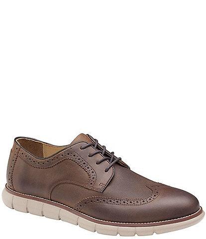 Johnston & Murphy Men's Holden Embossed Wingtip Casual Shoes