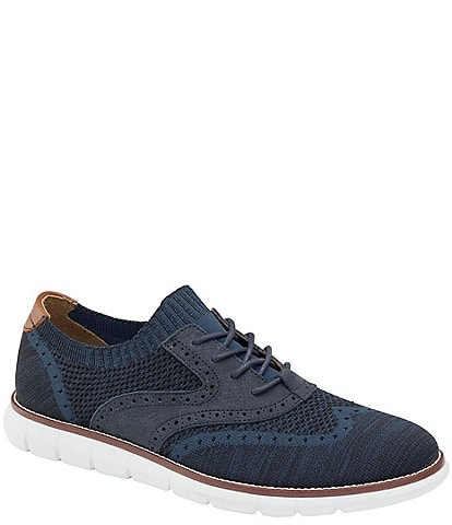 Johnston & Murphy Men's Holden Knit Fabric Wingtip Shoes