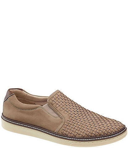 Johnston & Murphy Men's Mc Guffey Nubuck Wove Slip On