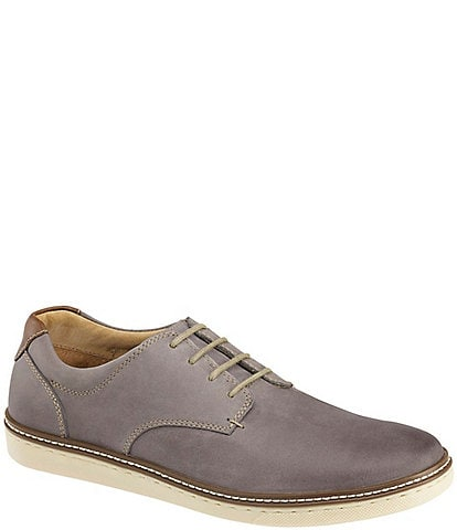 Johnston & Murphy Men's McGuffey Suede Leather Plain-Toe Oxfords