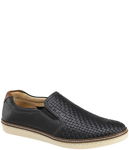 Johnston & Murphy Men's McGuffey Woven Leather Slip-On Shoes