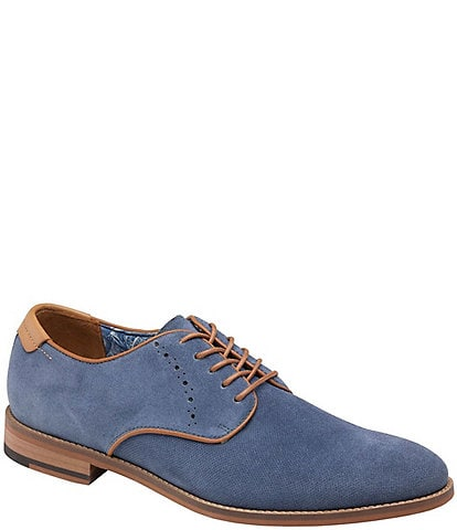 Johnston & Murphy Men's Milliken Suede Plain Toe Oxfords