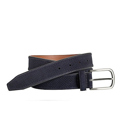 Johnston & Murphy Men's Suede Perfed Belt