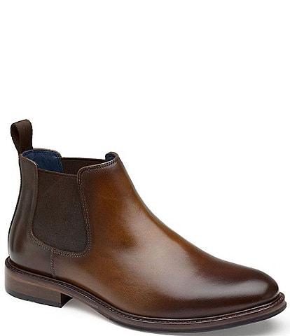 Johnston & Murphy Men's XC Flex Raleigh Leather Chelsea Boots