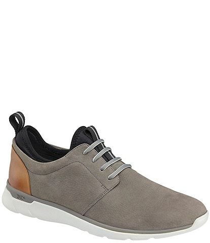 Johnston & Murphy Men's XC4 Prentiss Plain Toe Nubuck Waterproof Sneakers