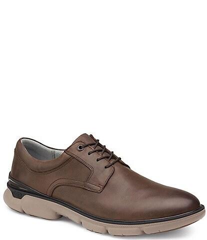 Johnston & Murphy Men's XC4 Tanner Plain Toe Waterproof Leather Oxfords