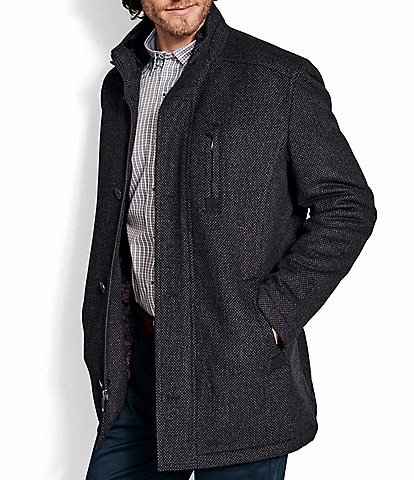 Johnston & Murphy Mini Pattern Wool Coat